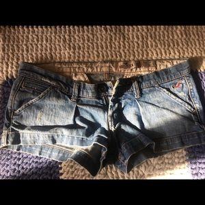 Hollister brand jean shorts
